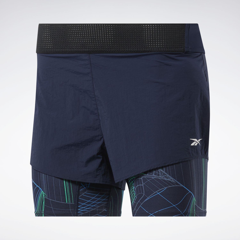 Reebok Ts Epic 2in1 Short-Techtw Azul Shorts Deportivos