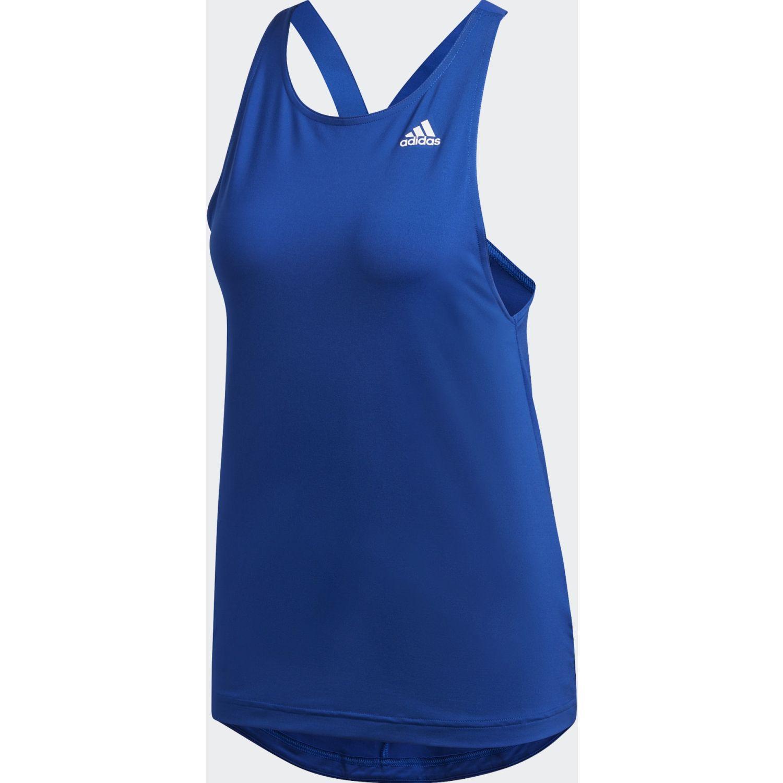 Adidas W D2m Aop Tk Azulino Tank Tops