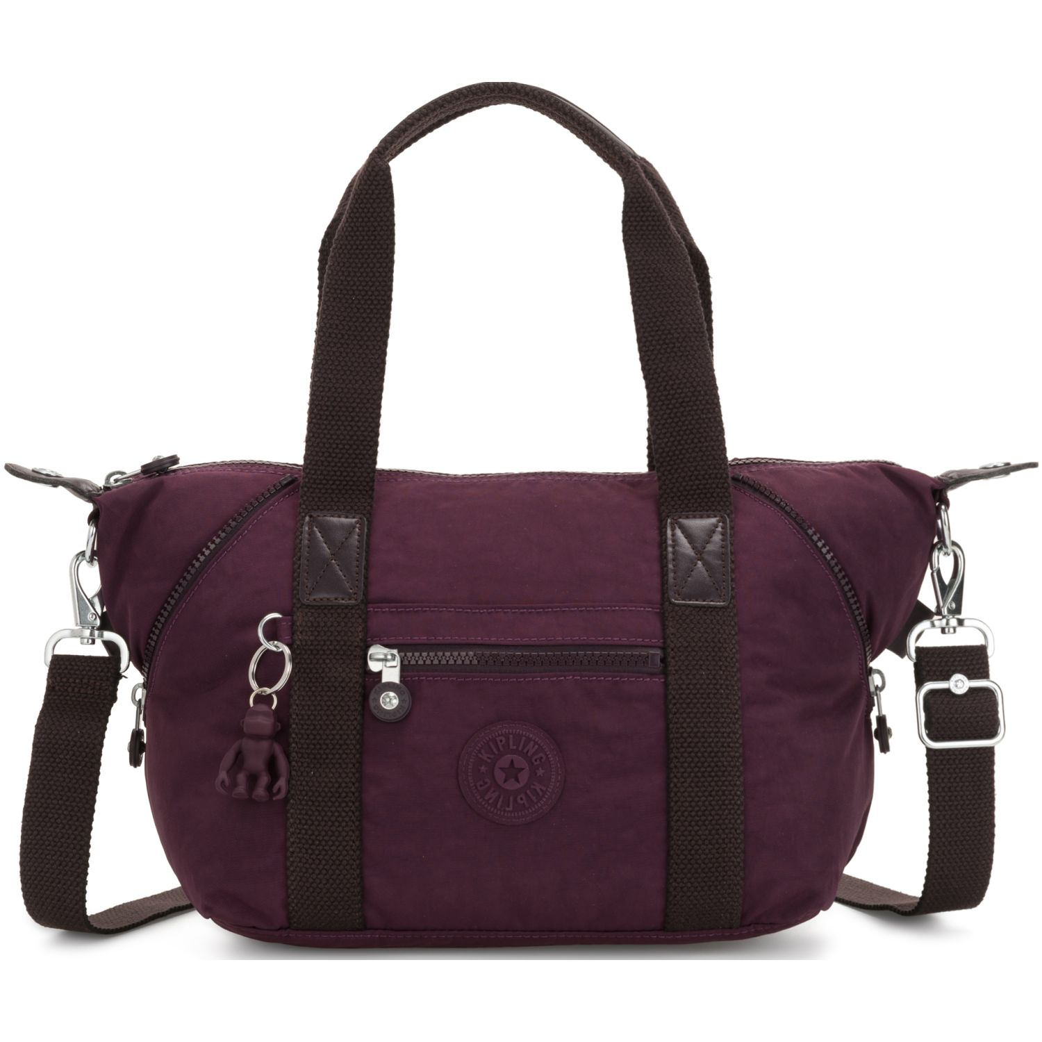 Kipling Cartera Art Mini Morado Carteras con Asa