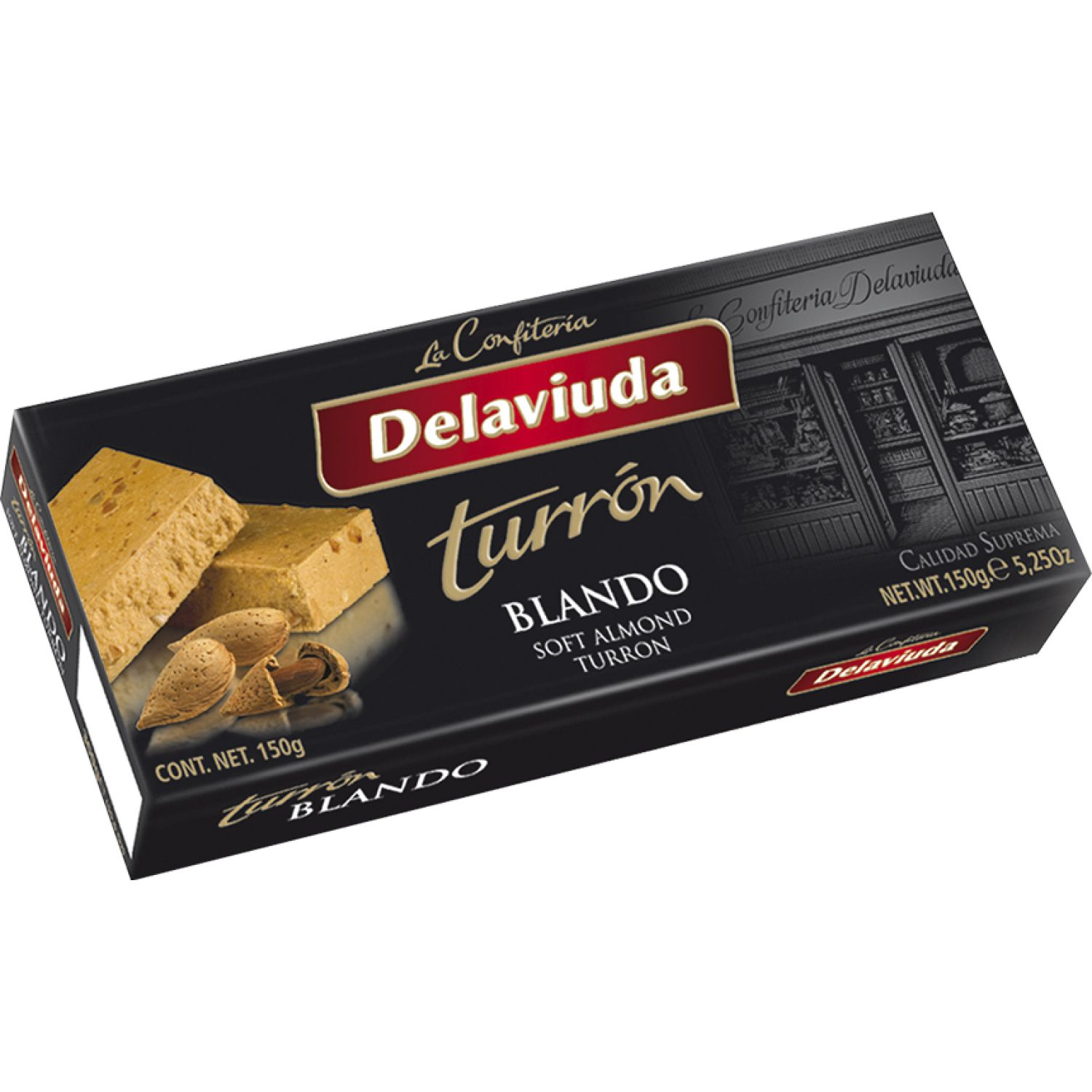 Delaviuda Turron Blando 150 Gr Sin color Traditional y international sweets