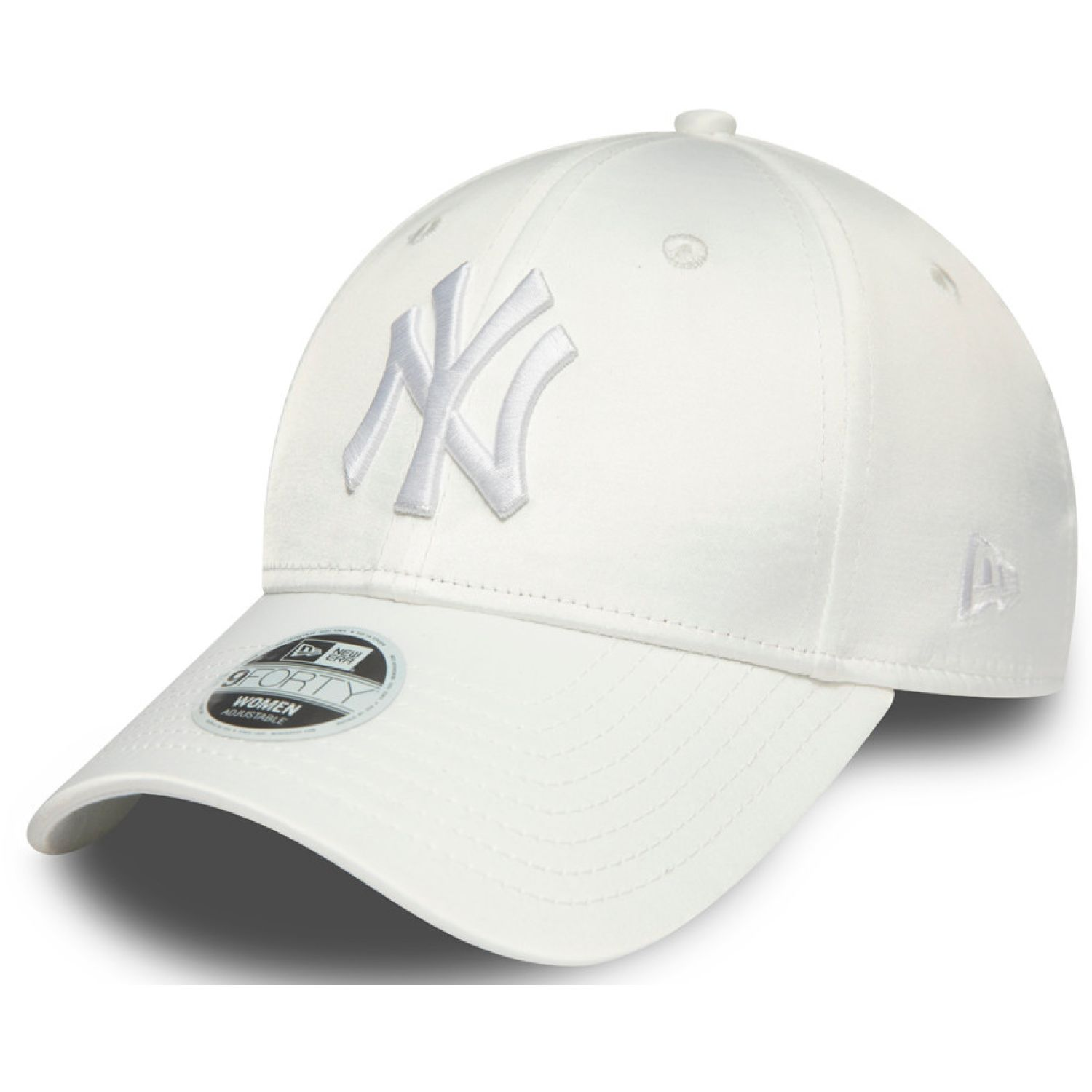NEW ERA Womens Mlb Satin 9forty Neyyan Whi White Chullos y gorros