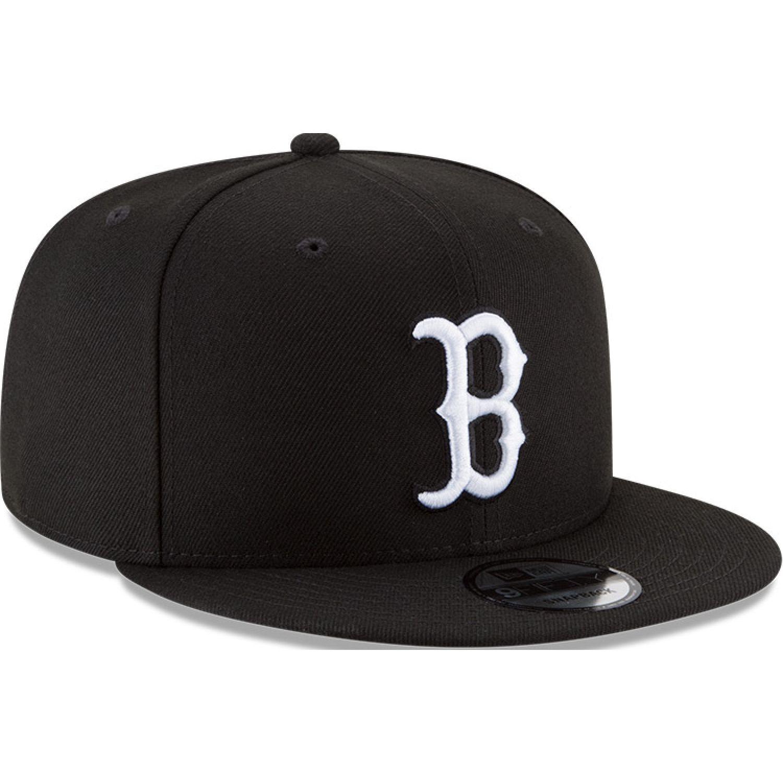 NEW ERA Mlb Basic Snap 950 Bosred Blkwhi Negro Gorras de béisbol