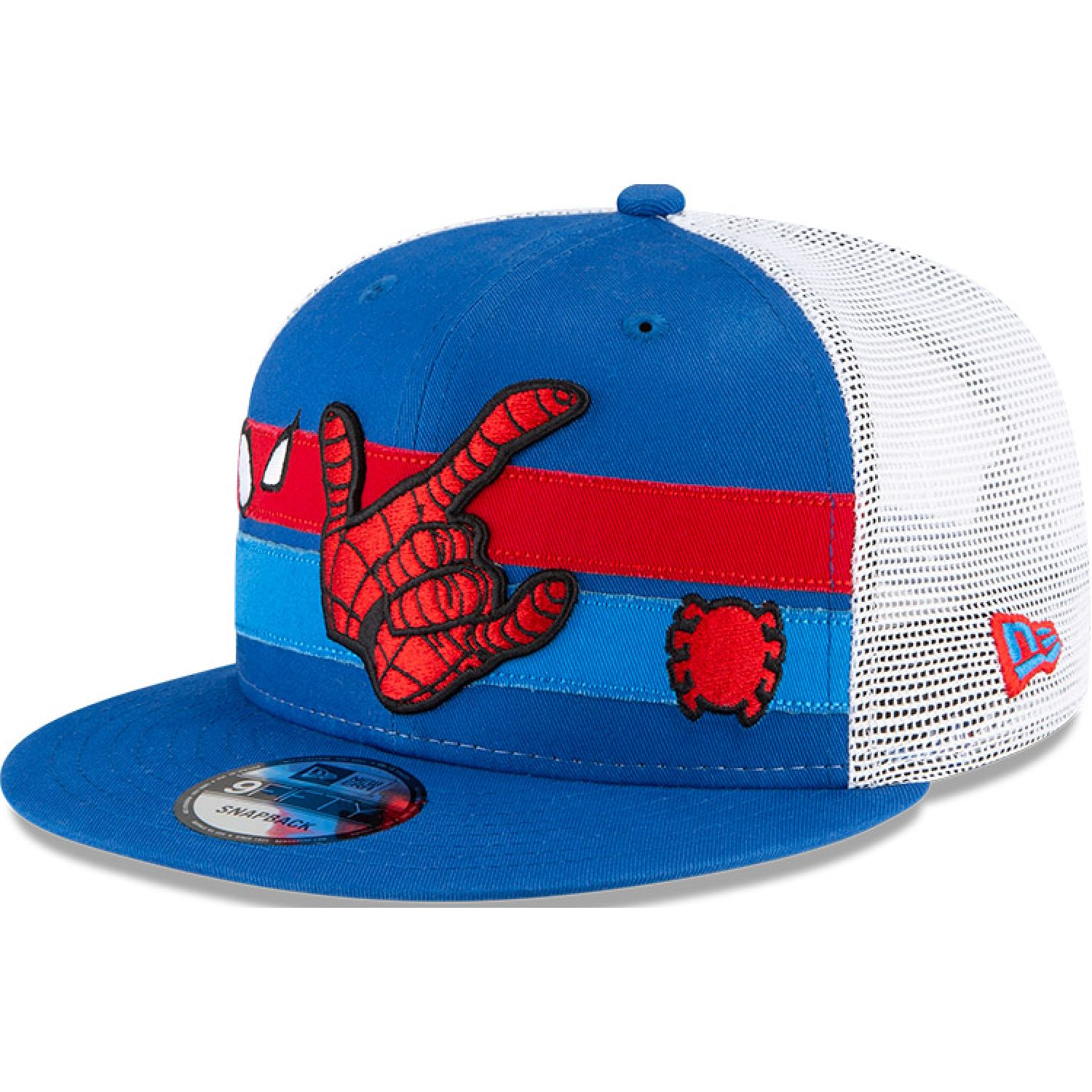 NEW ERA M950 Trucker Strpe B1 Spiderman Bluazu MED BLUE Gorras de béisbol