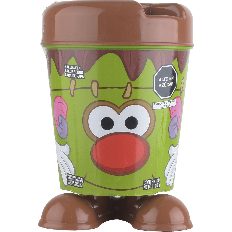 ARCOR HALLOWEEN BALDE SR CARA DE PAPA FRANKIE 100g Verde Los surtidos de dulces y chocolate