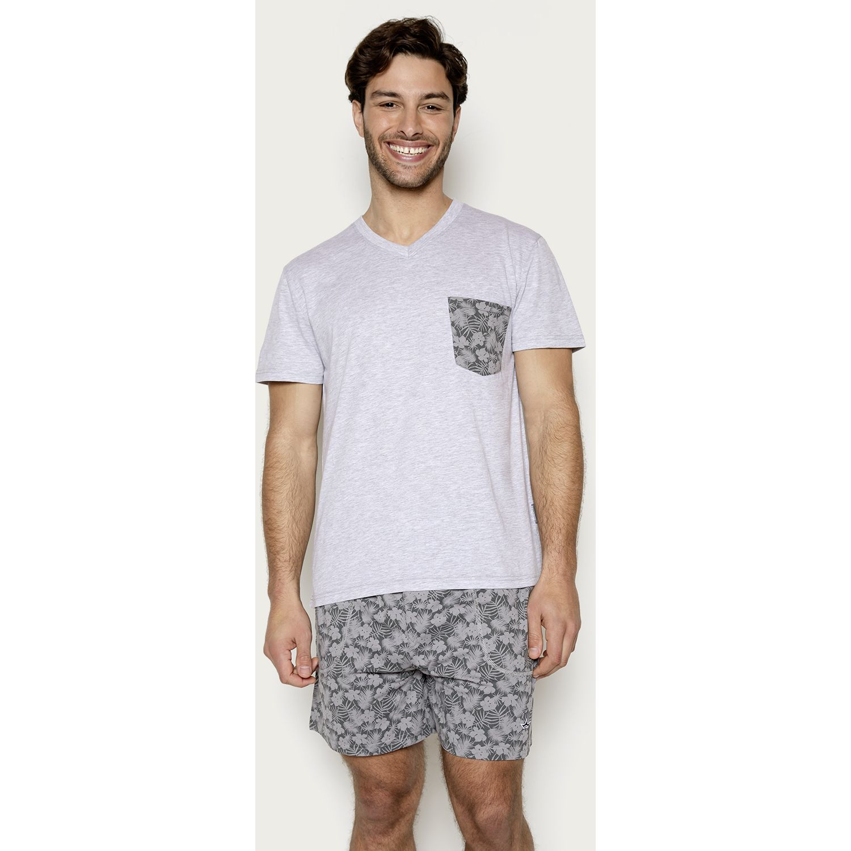 PALMERS Pijama Jersey Print Gris Conjuntos para dormir