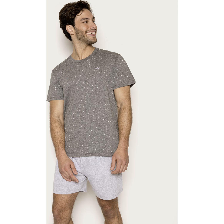 PALMERS Pijama Jersey Print Gris oscuro Conjuntos para dormir