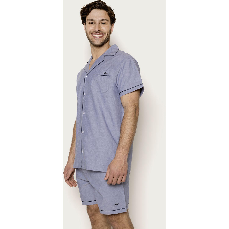 PALMERS Pijama Abotonado  T.Plana Celeste Conjuntos para dormir