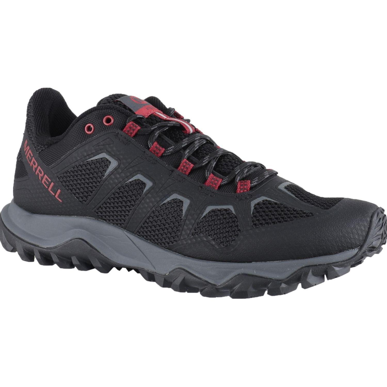 Merrell Fiery Negro / rojo Zapatos de senderismo