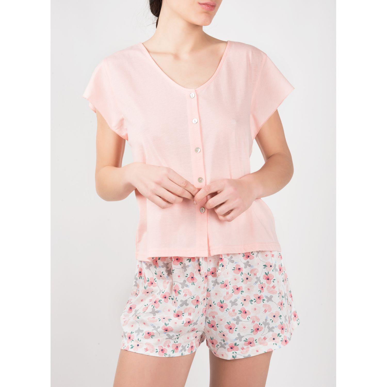 SISI Pijama Royale 2 Piezas Short Rosa Camisones y camisetas de dormir