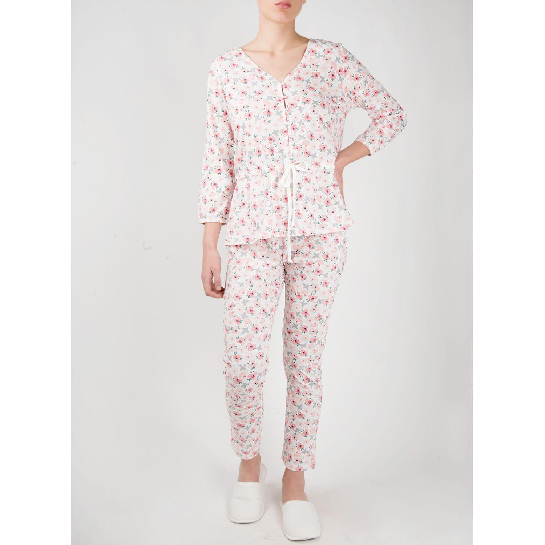 SISI Pijama Blues 2 Piezas Pant Marfil Camisones y camisetas de dormir