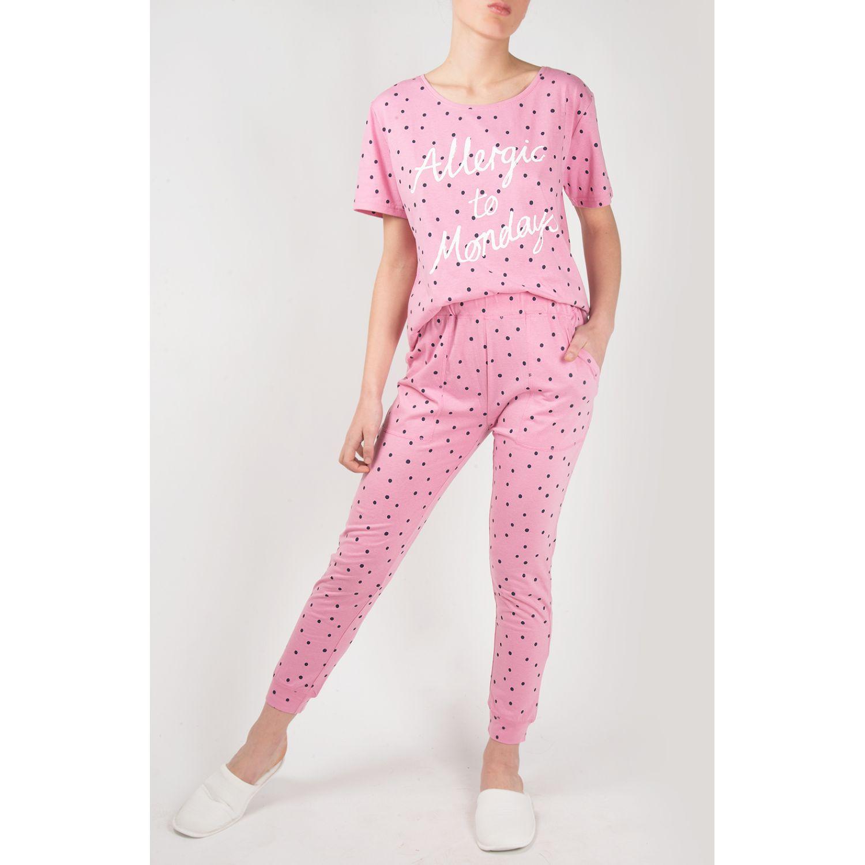 SISI Pijama Allegra 2 Piezas Pants Rosa Camisones y camisetas de dormir