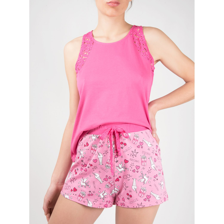 SISI Pijama  Centra 2 Piezas Short Rosado Camisones y camisetas de dormir