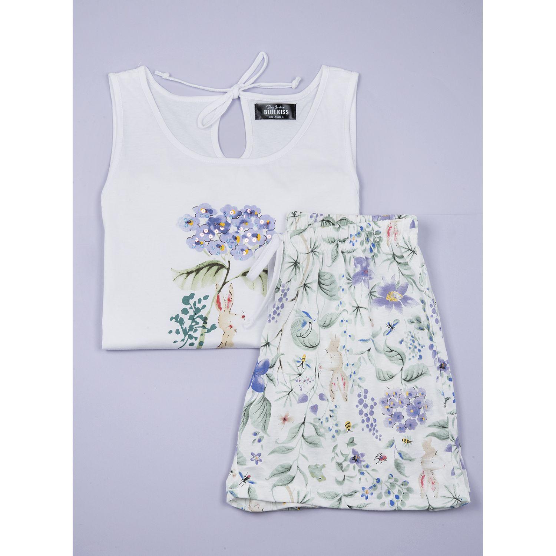 SISI Pijama Violeta 2 Piezas Short Blanco Camisones y camisetas de dormir