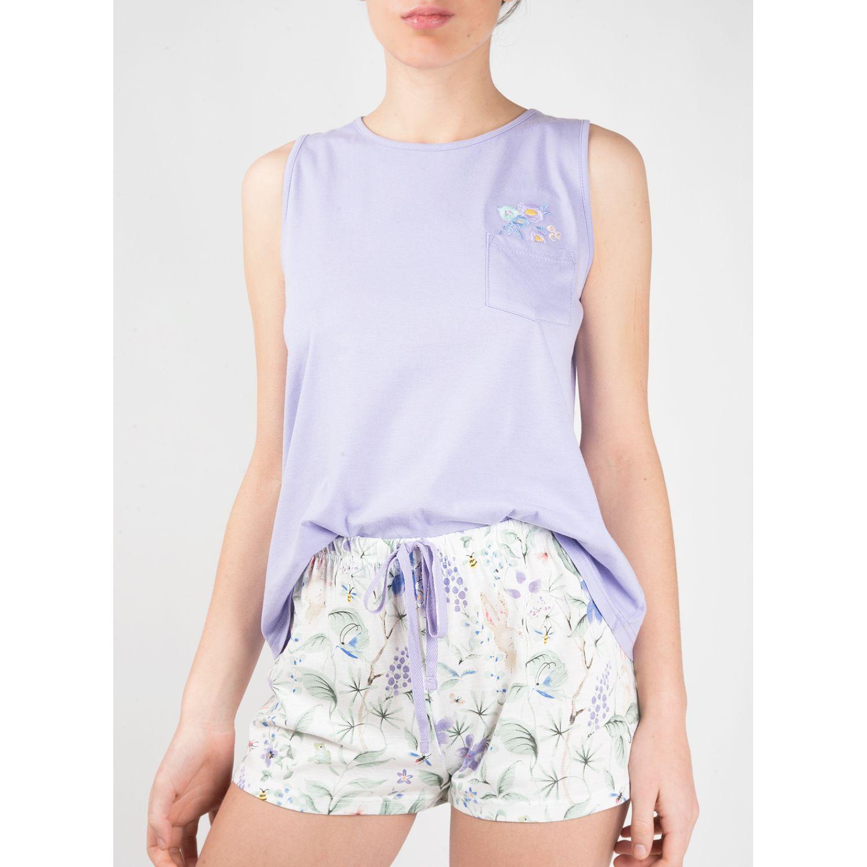 SISI Pijama Lilac 2 Piezas Short Lila Camisones y camisetas de dormir