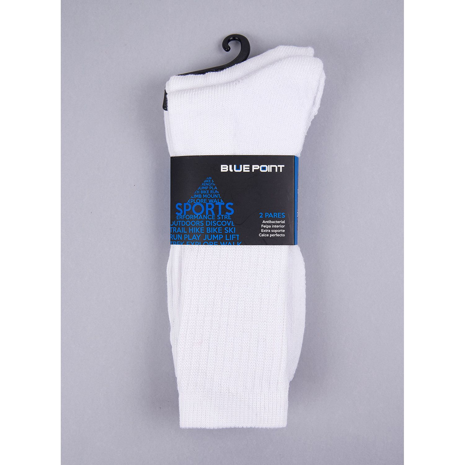 SISI PACK X 2 CREW SPORT White Calcetines