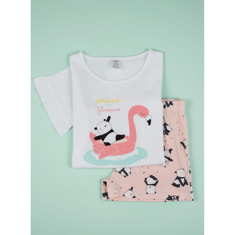 SISI Pijama Girls Pandi Rosa Conjunto de pijama