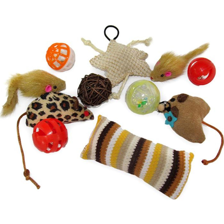 PETS BY LI Juguetes Pack Varios Gato Varios Juguetes para animales