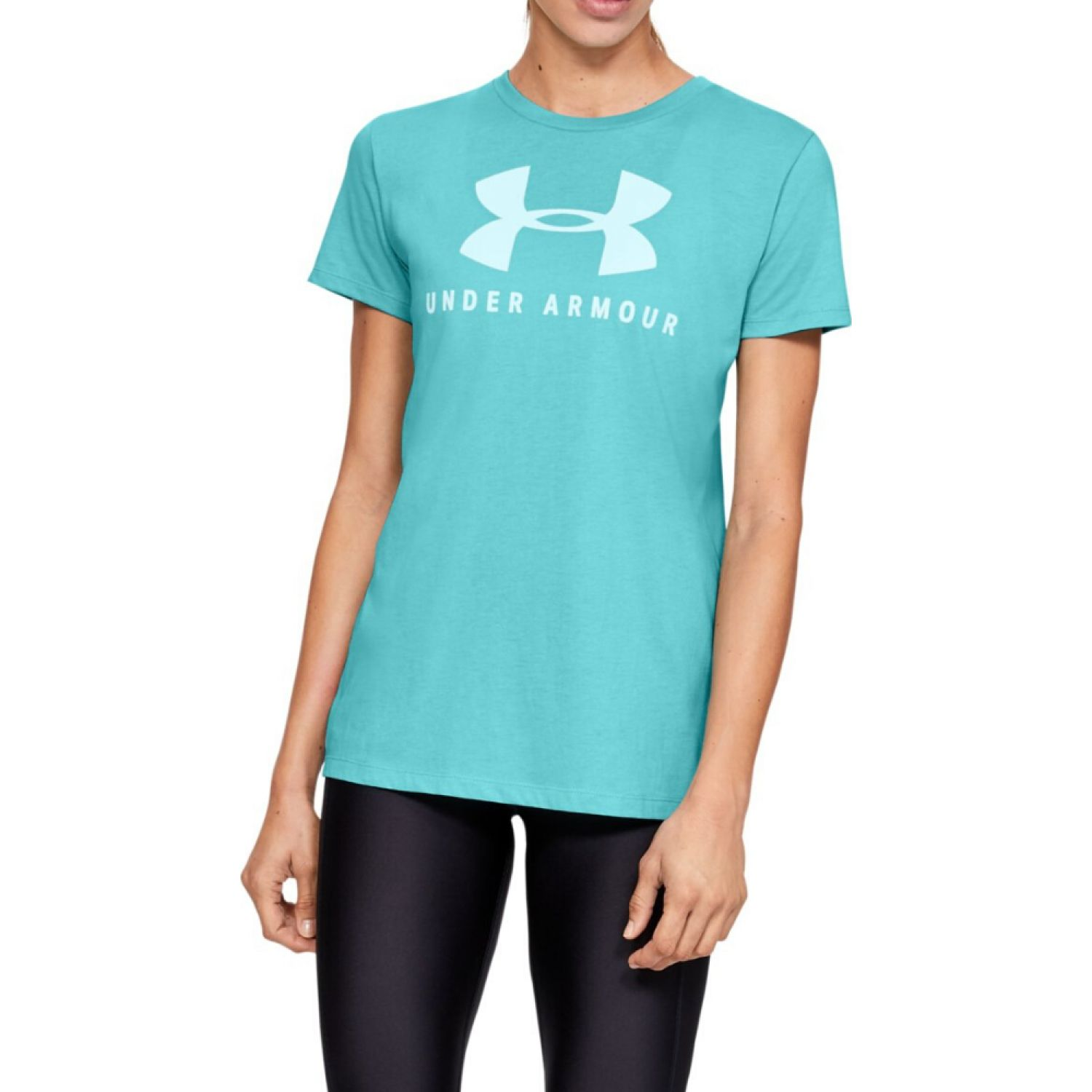 Under Armour Graphic Sportstyle Classic Crew Aqua Polos