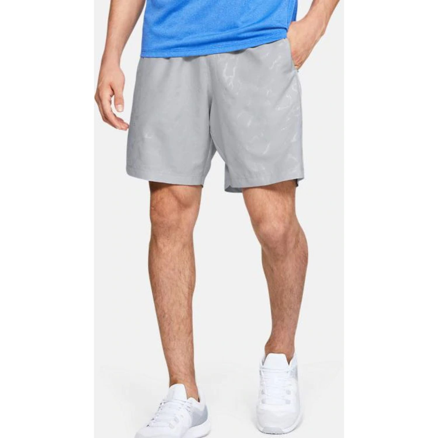 Under Armour Woven Graphic Emboss Shorts Plomo Shorts Deportivos