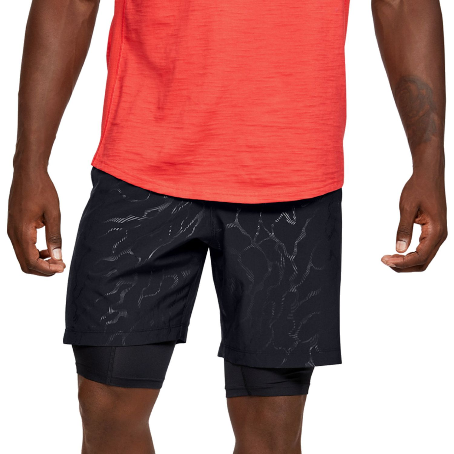 Under Armour Woven Graphic Emboss Shorts Negro Shorts deportivos