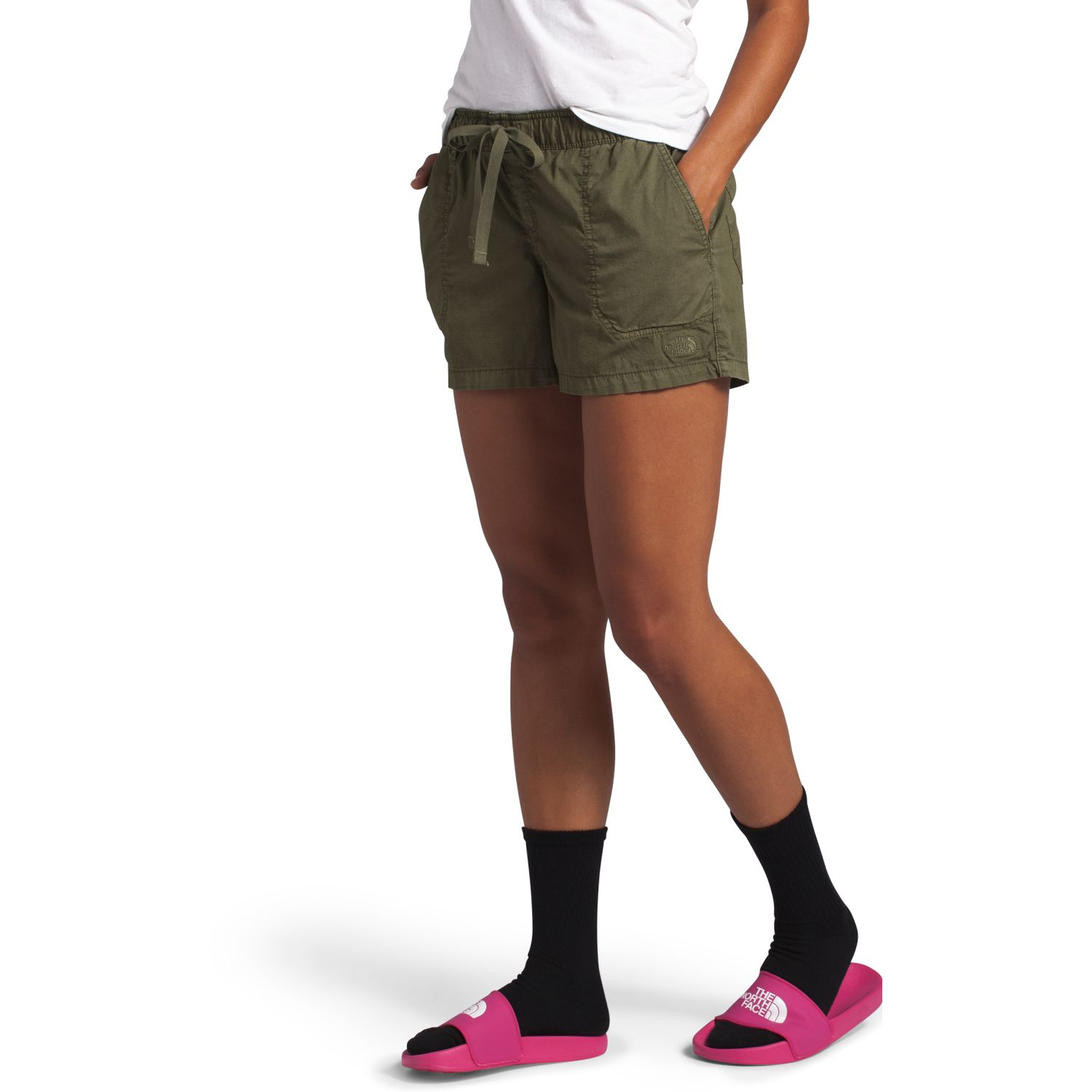 The North Face W Motion Pull On Short Olivo Shorts Deportivos