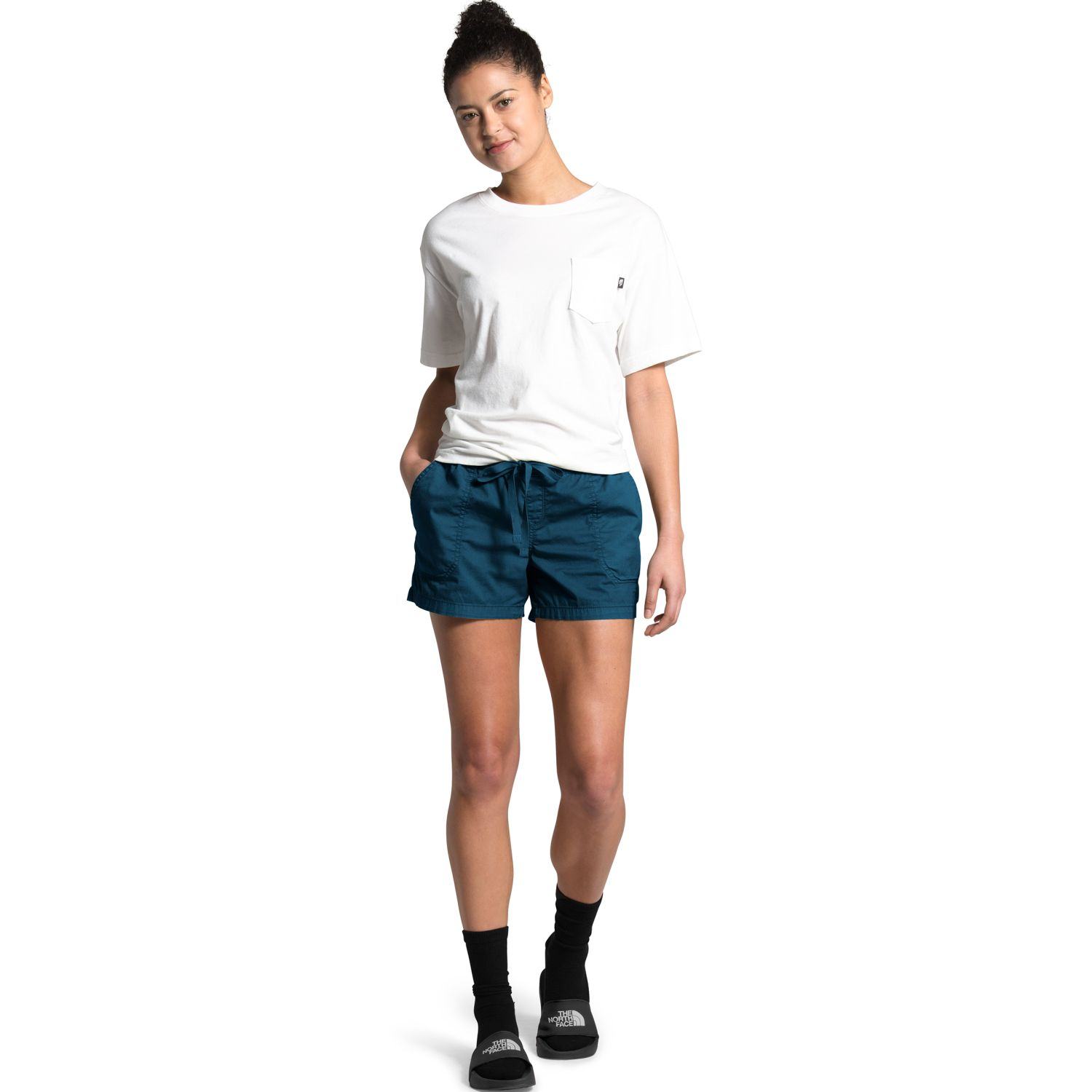 The North Face W MOTION PULL ON SHORT Azul Shorts Deportivos