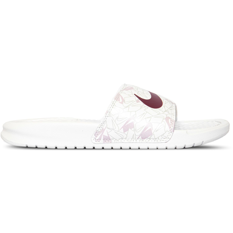 Nike Wmns Benassi Jdi Print Blanco Sandalias y chanclas deportivas