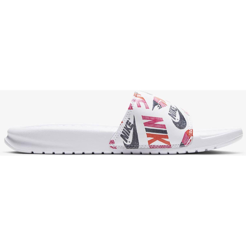 Nike Wmns Benassi Jdi Print Blanco Sandalias deportivas y slides