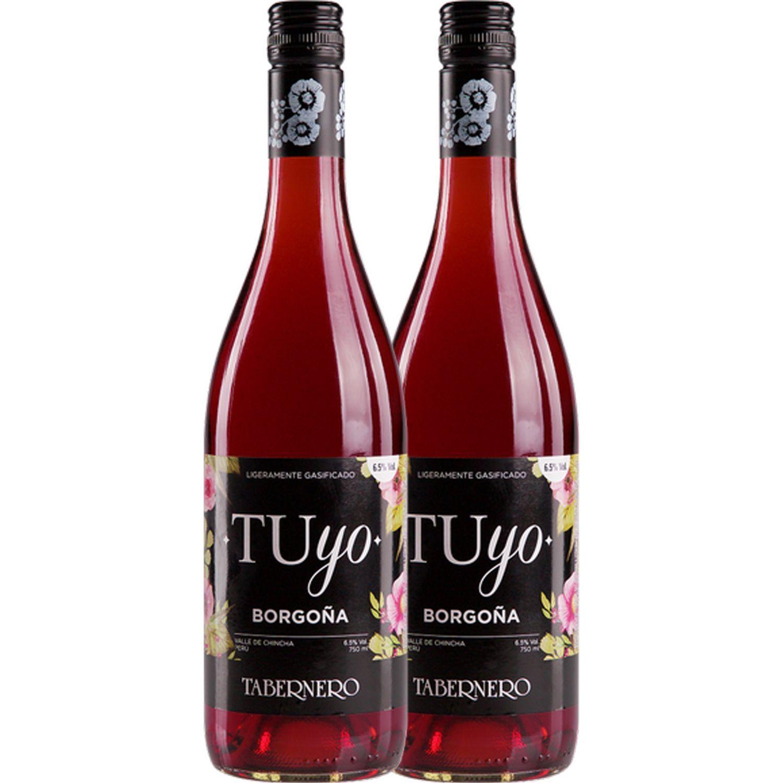 TABERNERO Tuyo Borgoña 2 X 750ml Sin color Vino Tinto