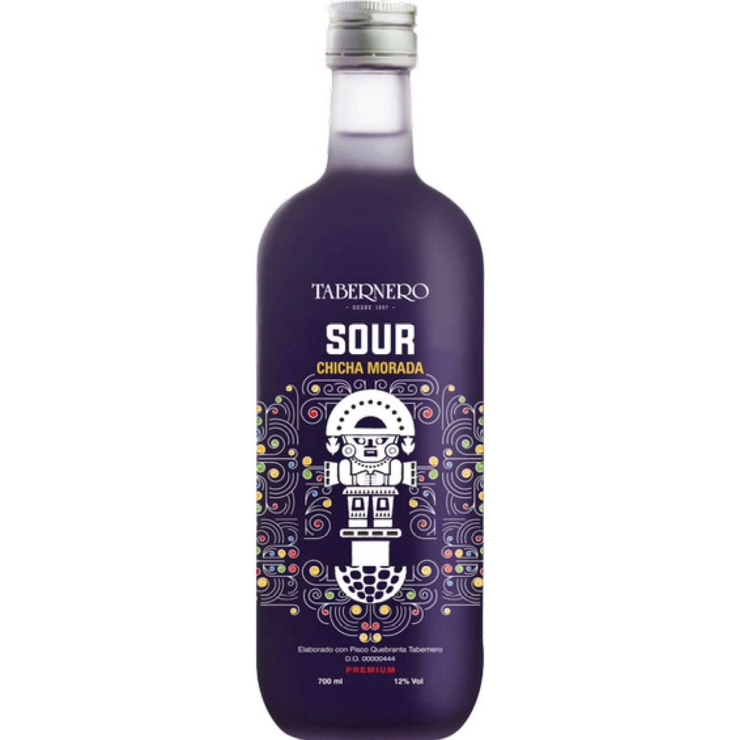 TABERNERO Pisco Sour Chicha Morada 700ml Sin color Licores preparados