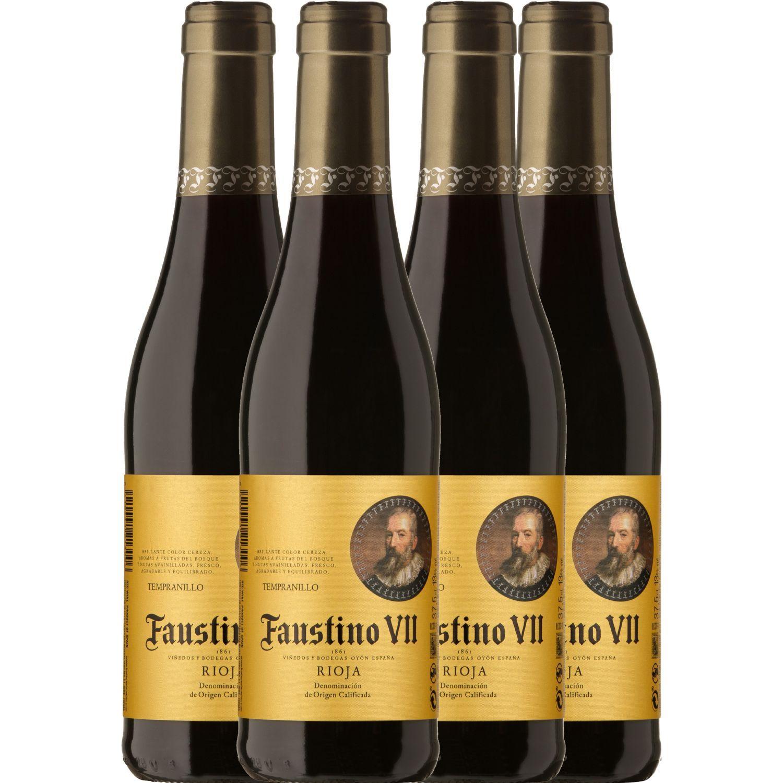 Faustino V Vino Tinto Rsva Tempr. 4 Und X 375 Ml Sin color Vino Tinto