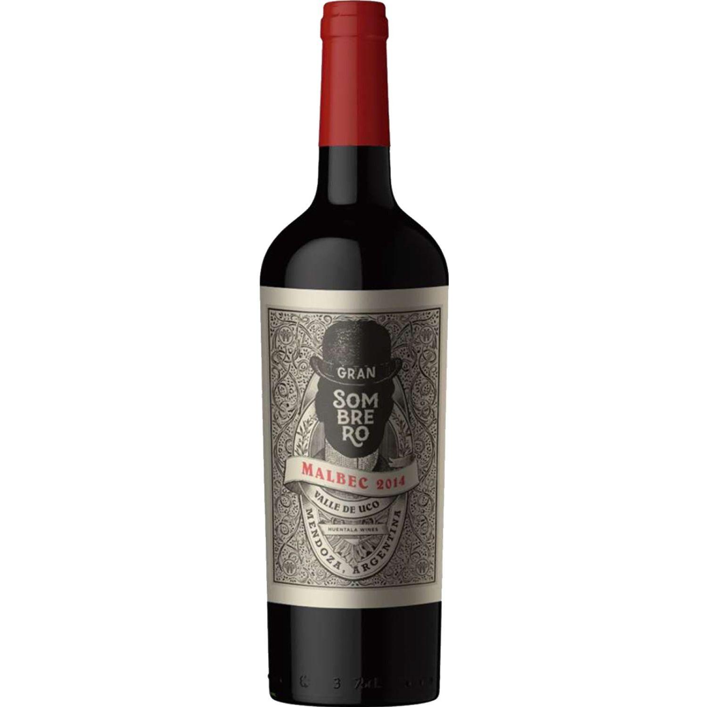 HUENTALA WINES Gran Sombrero Malbec 750 ML Sin color Vino Tinto