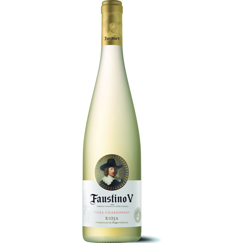 Faustino V Vino Blanco Viura Chardonnay 750 Ml Sin color Vino Blanco