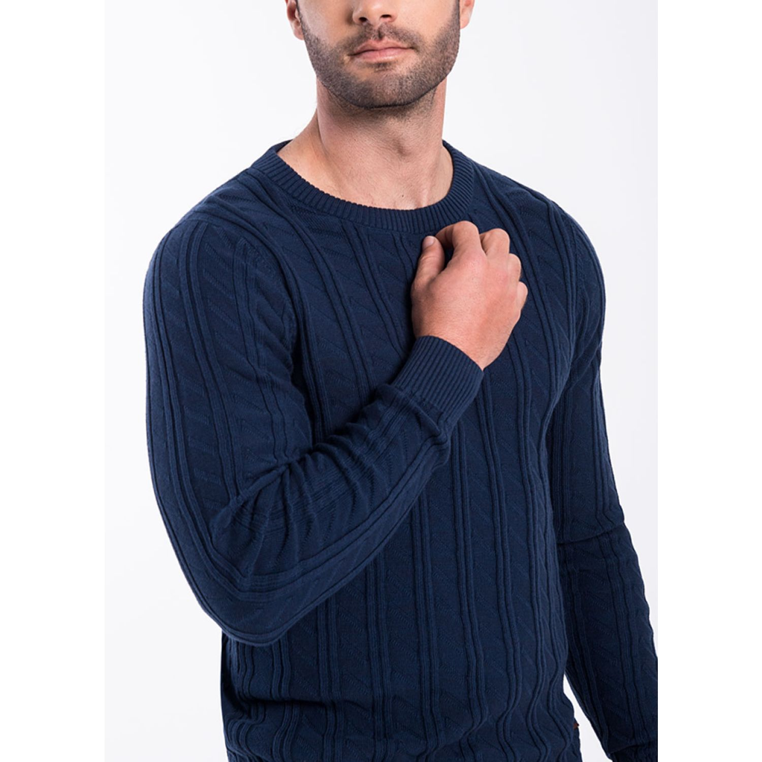 Norton 103-Sweater Navy Pullovers