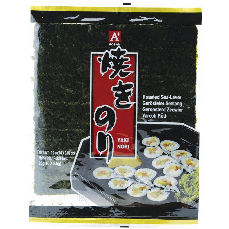 A+ Alga Marina Tostada Para Sushi 10 H Sin color Secado de algas marinas y Nori