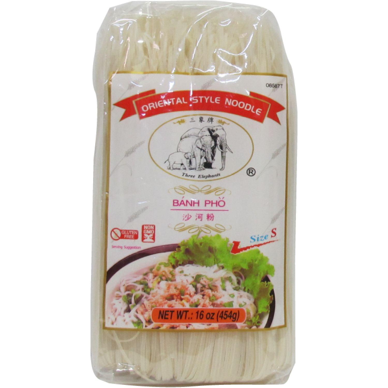 THREE ELEPHANTS Fideo De Arroz (S) 1lb Paq 0 Fideos de arroz