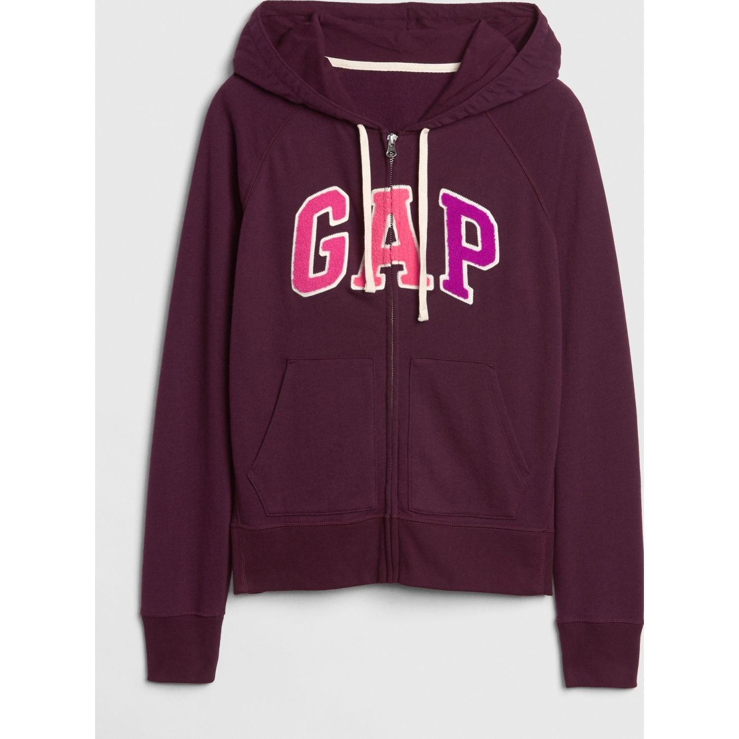 GAP Polera Gap Logo Full-Zip CIRUELA Jerseys