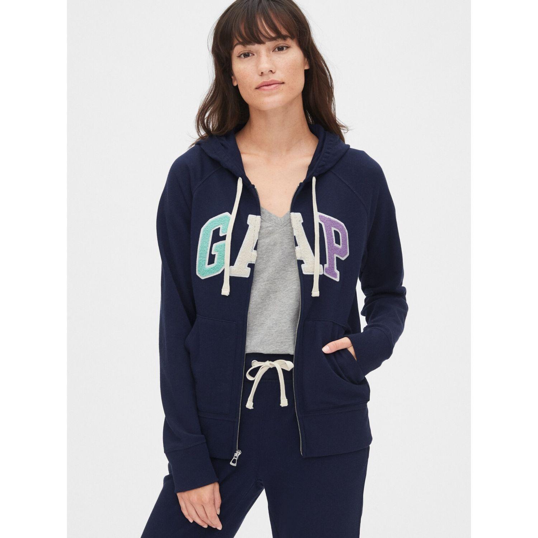 GAP Polera Gap Logo Full-Zip Navy Jerseys