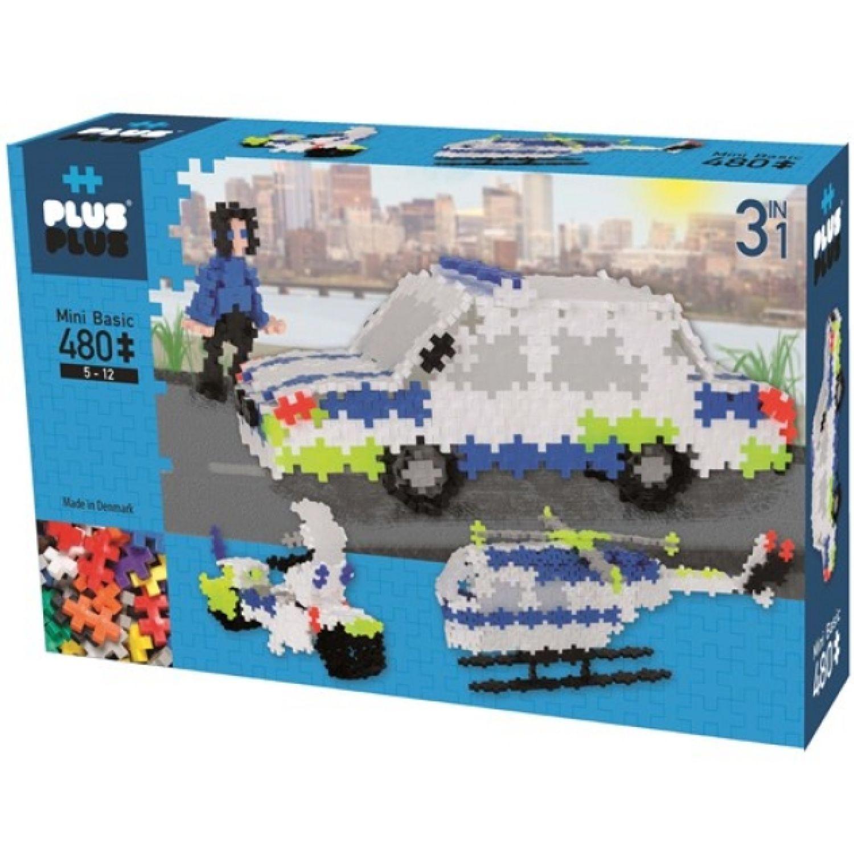 PLUS PLUS Basico 480 Policia 3 En 1 MULTICOLOR Juegos de Construcción