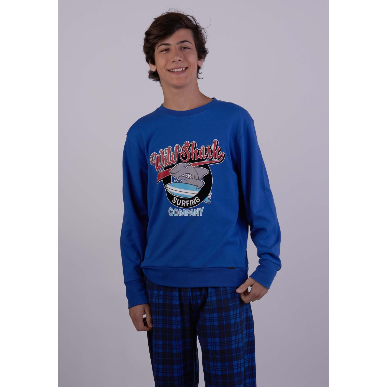 Kayser Pijama Algodón 66.1124 AZUL Conjunto de pijama