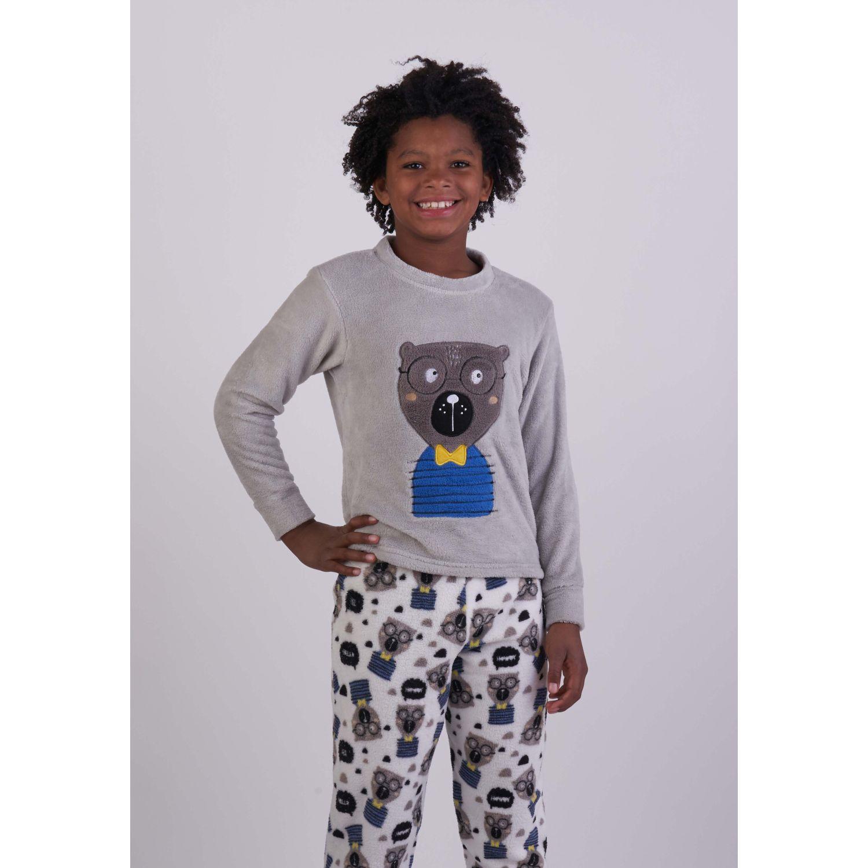 Kayser Pijama Coral Fleece 64.1128 GRIS Conjunto de pijama