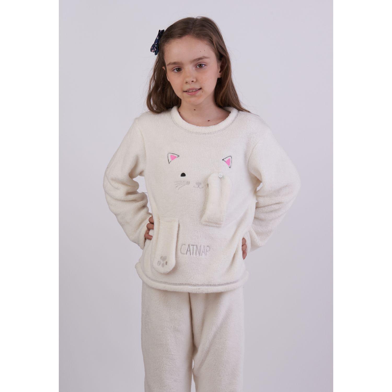 Kayser Pijama Coral Fleece 63.1284 CREMA Conjunto de pijama