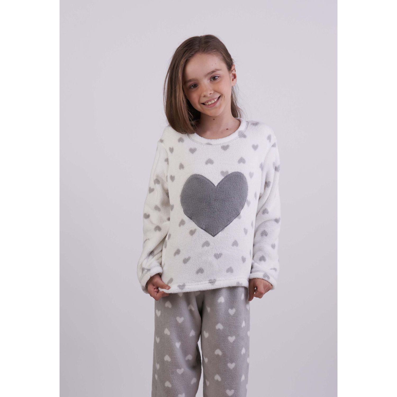 Kayser Pijama Coral Fleece 63.1285 GRIS Conjunto de pijama