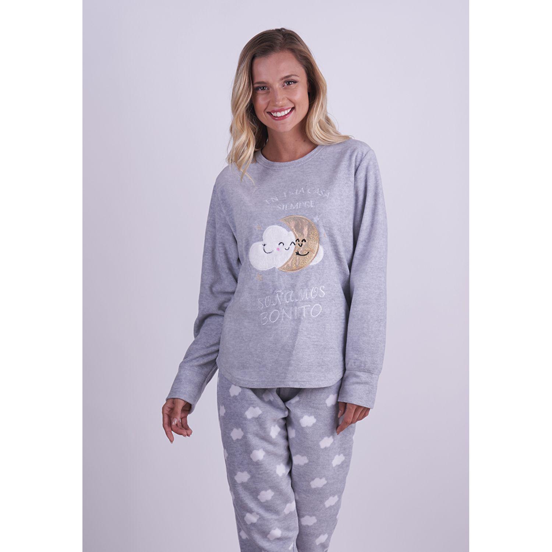 Kayser Pijama Polar 60.1283 GRIS Camisones y camisetas de dormir