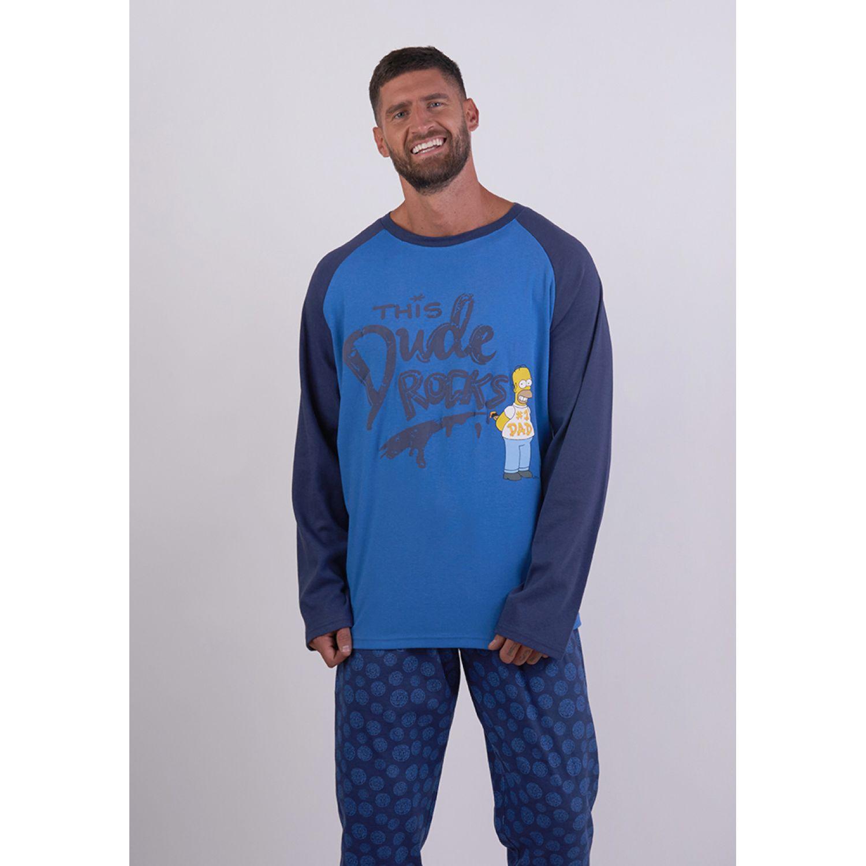 Kayser Pijama Algodón S6747 AZUL Conjuntos para dormir