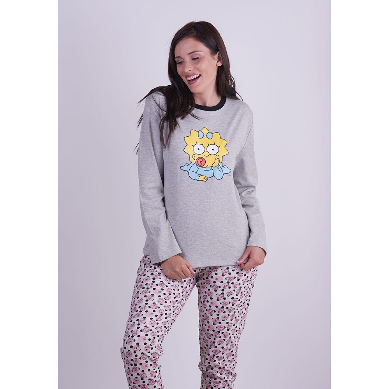 Kayser PIJAMA ALGODÓN S6044 GRIS Pijamas y Camisetas de Dormir