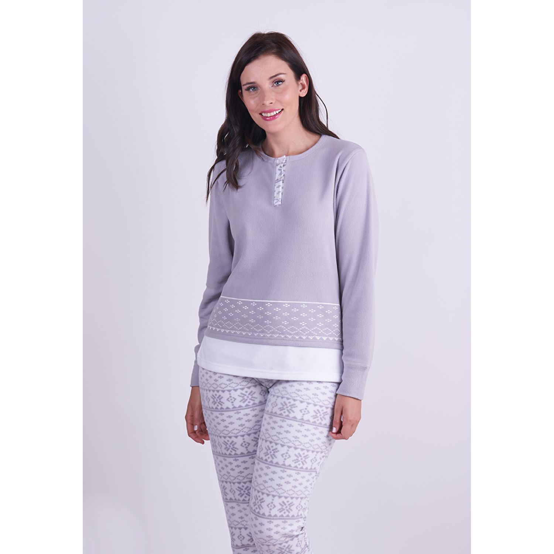 Kayser Pijama Polar 60.1265 GRIS Pijamas y Camisetas de Dormir