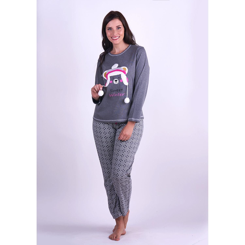 Kayser Pijama Algodón 60.1279 GRAFITO Pijamas y Camisetas de Dormir