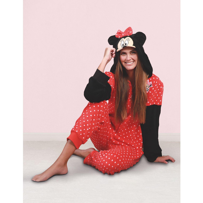 Kayser Pijama Enterito Coral Fleece D6018 ROJO Camisones y camisetas de dormir