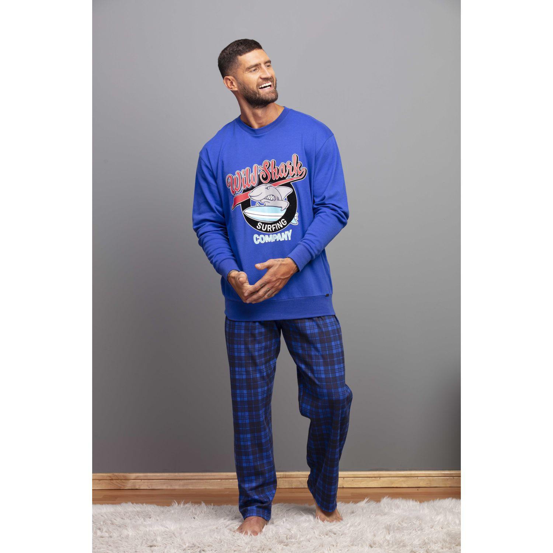 Kayser Pijama Algodón 67.1124 AZUL Conjuntos para dormir